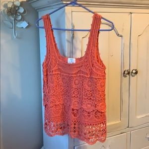 Urban Outfitters Crochet coral top!